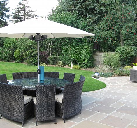 ... Curved Patio For New Extension, After ...